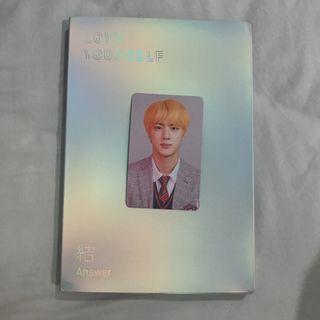 wts fast! bts answer album L version with seokjin photocard