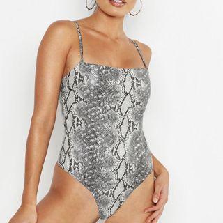 Snakeprint Bodysuit - M Boutique