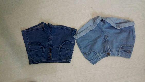 短褲(藍色)