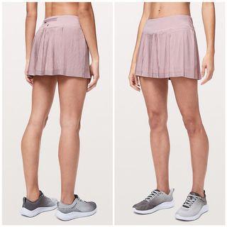 NWT Lululemon Size 8 Pleat To Street Skirt III (Porcelain Pink)