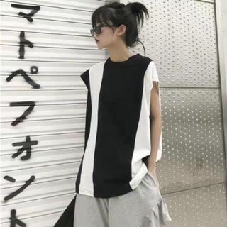 Sleeveless summer loose hip hop vest top (selling as set too)