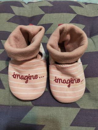 Zara home 專櫃 嬰幼兒鞋 假2件 外出鞋