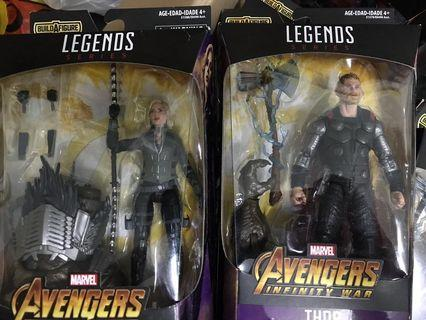Marvel Legends thor + black widow