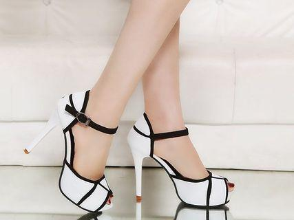 Black or white heels