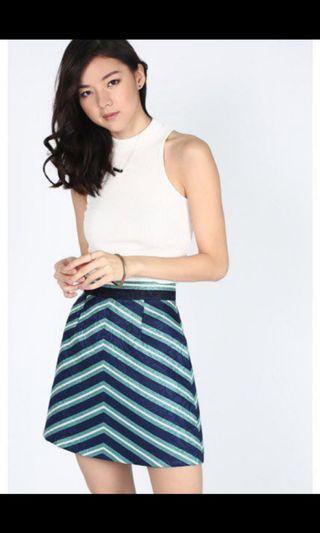 Love Bonito chevron Skirt