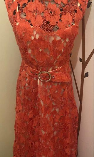 NEW Phase Eight Coral Evening Dress