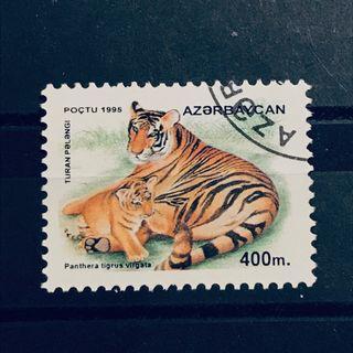 1995 年 珍藏外國郵票 蓋銷 野生生物動物 老虎 郵票 1 枚 WILD ANIMAL STAMPS