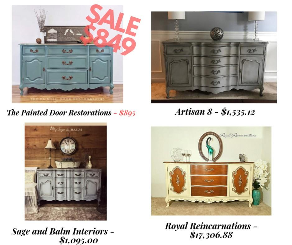 3 DAY FLASH SALE: Antique French Provincial Buffet/Dresser