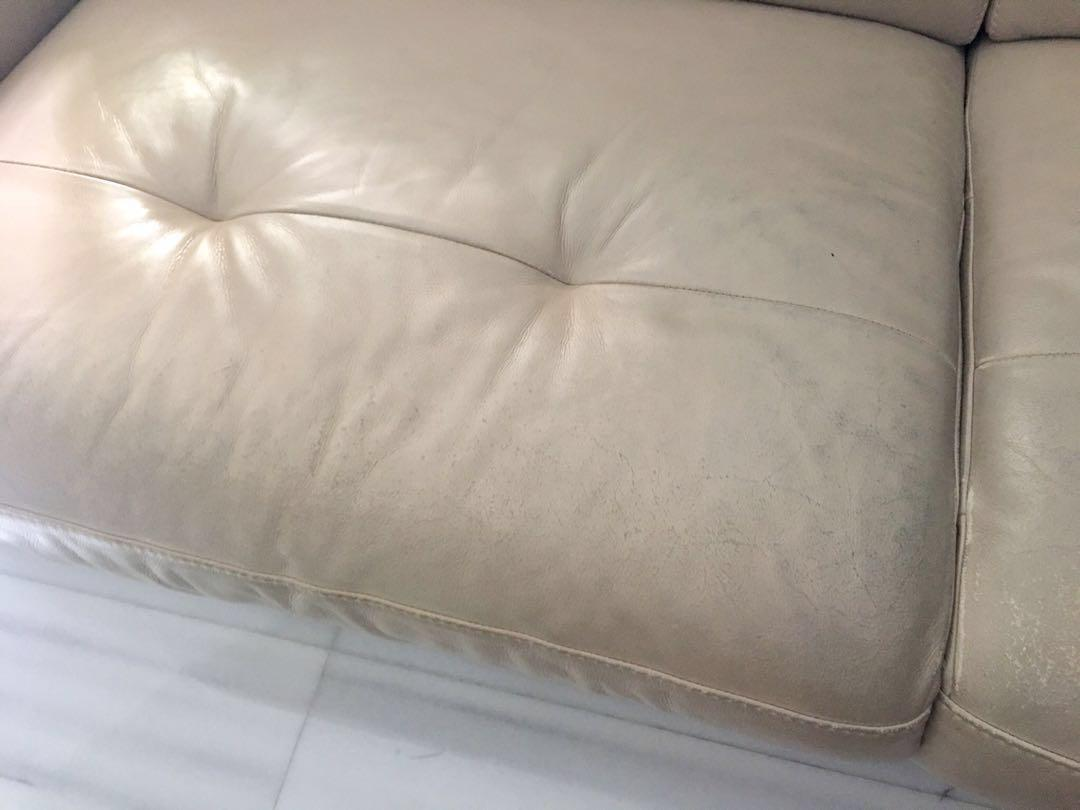 * FIRE SALE * Genuine Leather Reclining 2-Seater Sofa