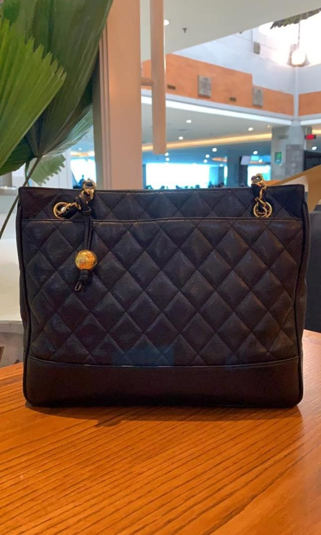🍄 Good Condition Vintage Chanel Shoulder #2 with holo n card no dustbag