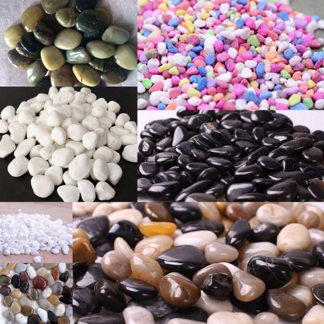 Aquarium Multi-Color Polished Stone Fish Tank Pebble