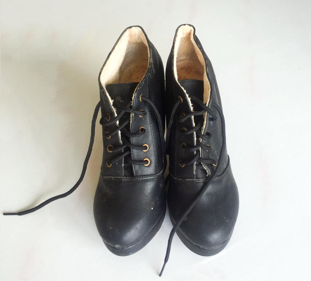 Black Ankle Boot Shoe