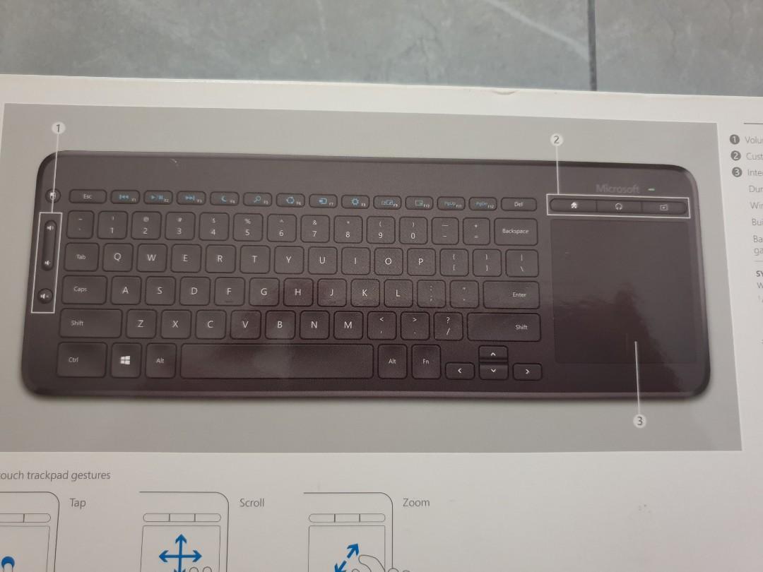 BNIB Microsoft All-in-one Media Keyboard