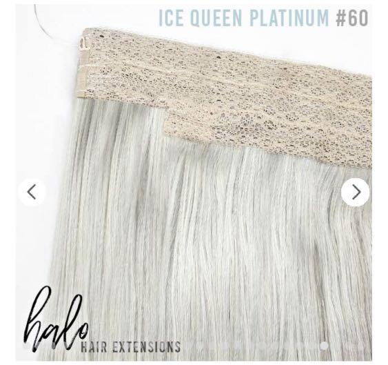 Brand new ZALA HALO Hair Extensions #60 Ice Queen Platinum