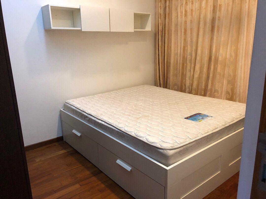 Brimnes Bed Frame With Storage White 150x200 Cm Mattress Furniture Beds Mattresses On Carousell