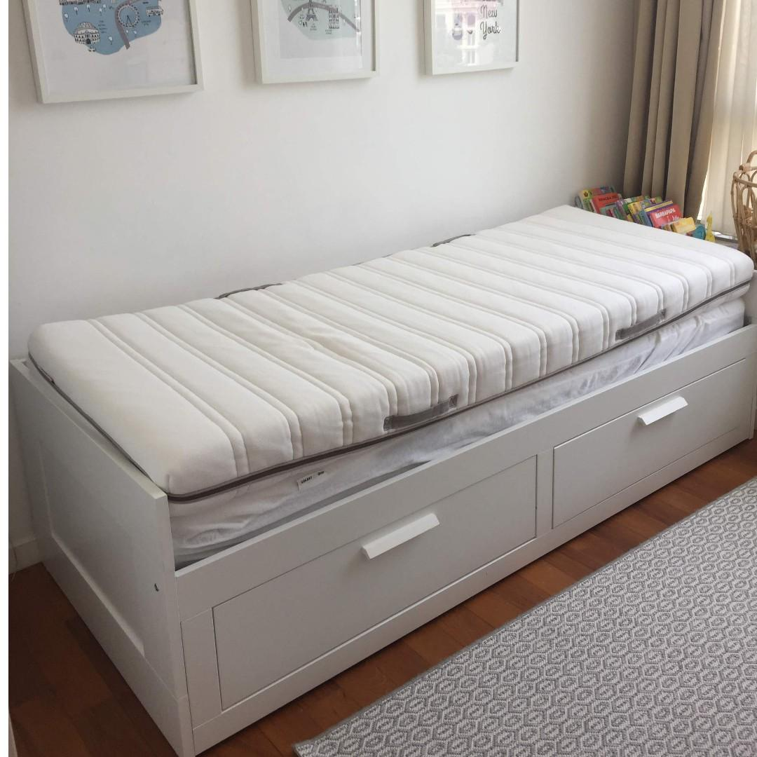 Brimnes Day Bed With Malvik Mattresses Furniture Beds Mattresses On Carousell