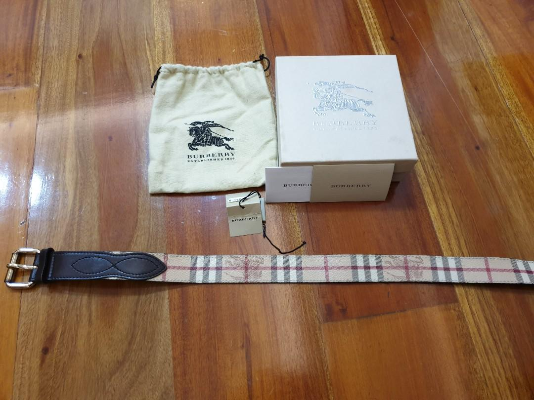 Burberry Belt 90 100% Authentic
