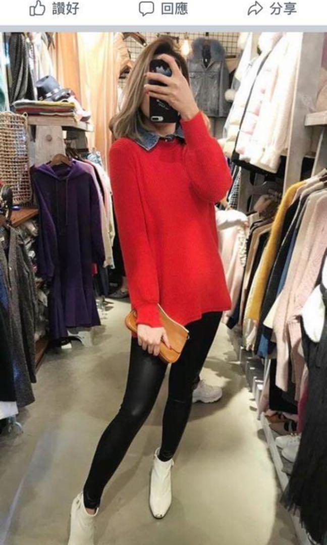 Cander 女裝 韓國製造 紅色 連身裙 made in Korea 100%全新