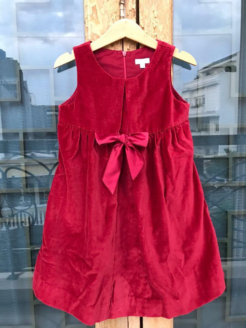 Dress suede red Jacadi