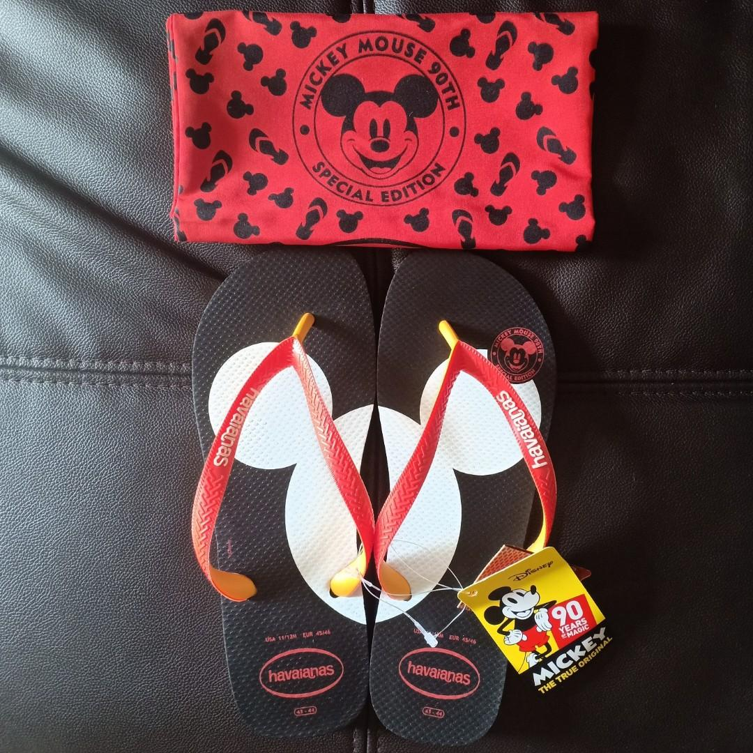 "Havaianas X Mickey Mouse ""90th Edition"" Flip-Flops"