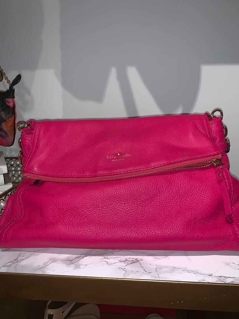 Hot Pink Pebbled Leather Kate Spade Purse