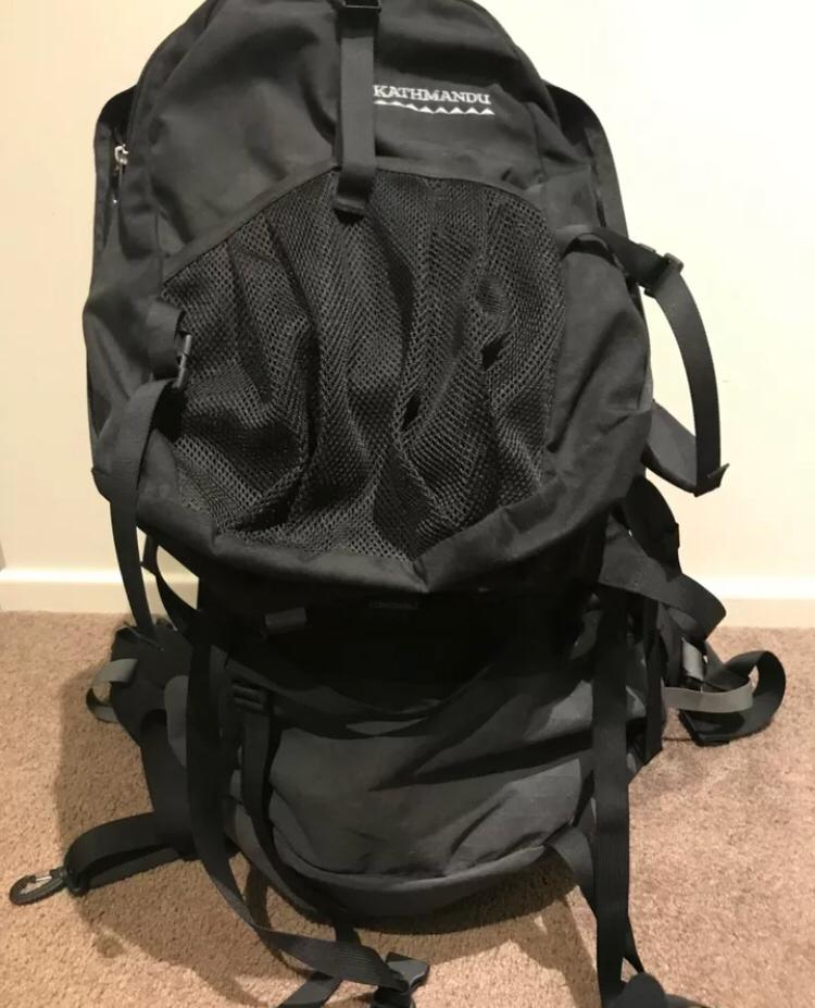 Kathmandu 70 L Gluon Backpack (with 15L day pack)