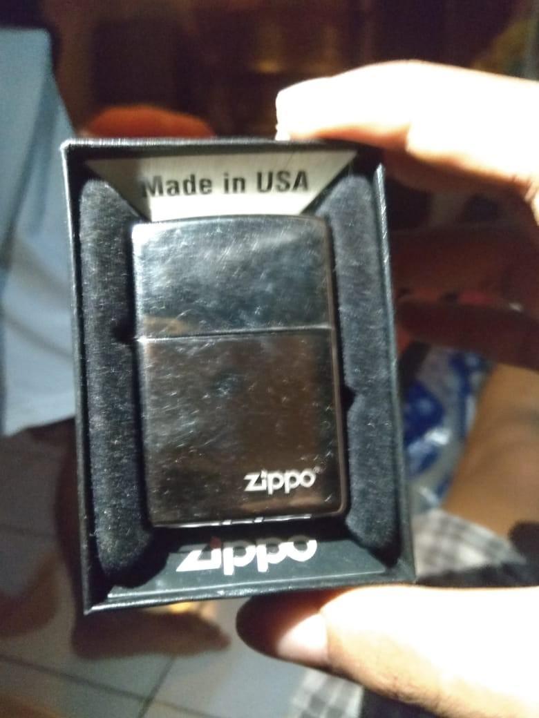 Korek Zippo black ice original