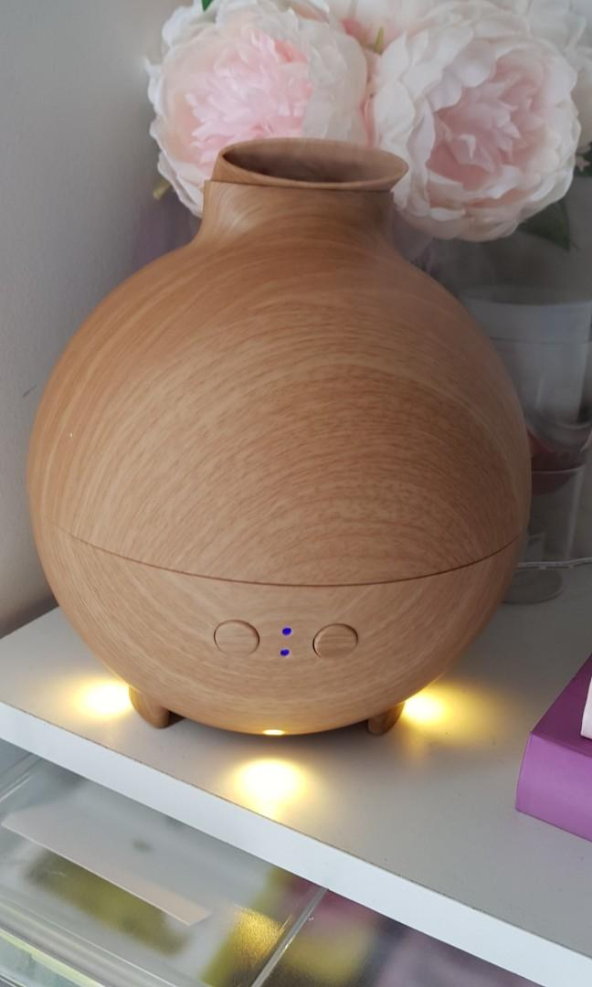 Led aroma aromatheraphy diffuser air  humidifier night lamp