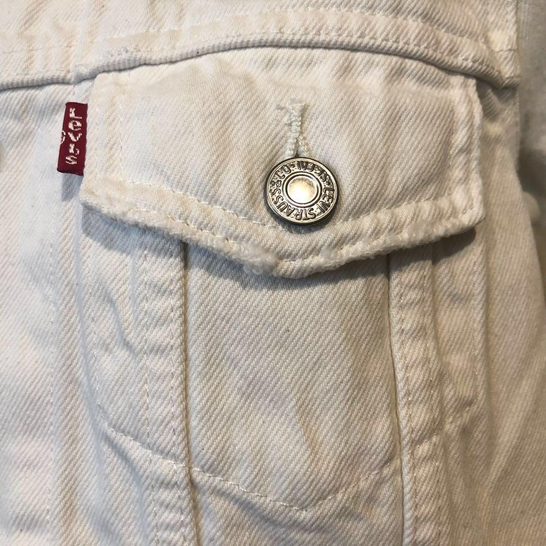 Levi's (Brand New) Ex Boyfriend Trucker Denim Jacket in White. RRP $149.95