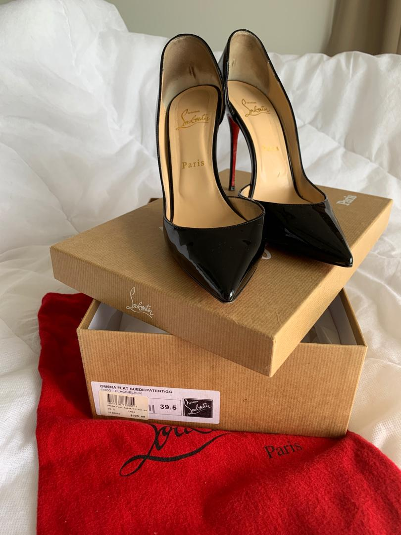 Louboutin Iriza 100 Patent leather heels