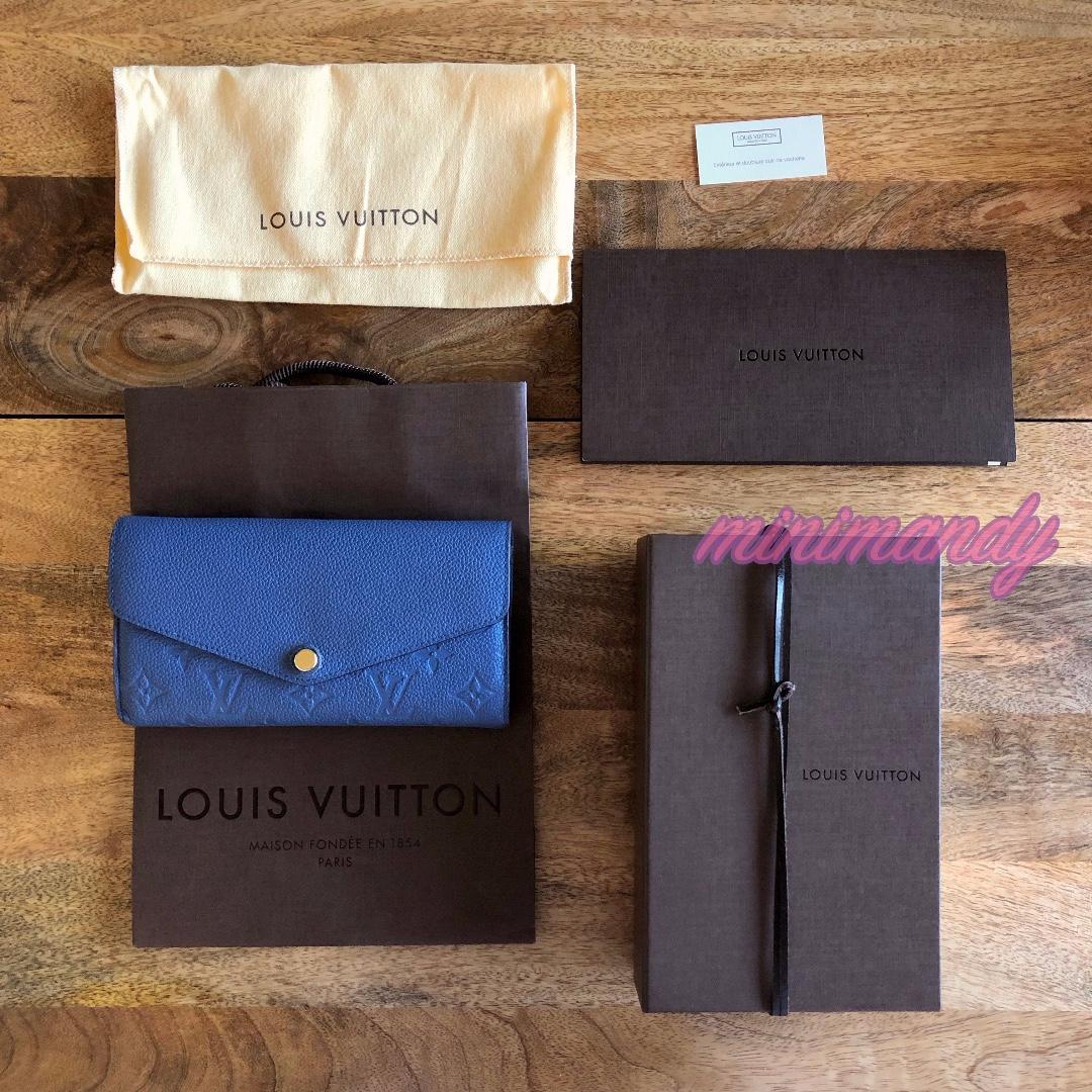 Louis Vuitton SARAH wallet M41859 denim blue Monogram Empreinte Leather envelope