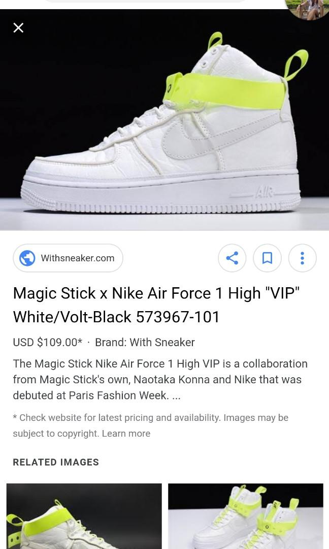 competitive price 61ae9 433dc Magic Stick X Nike Air Force 1 High AF1 VIP on Carousell