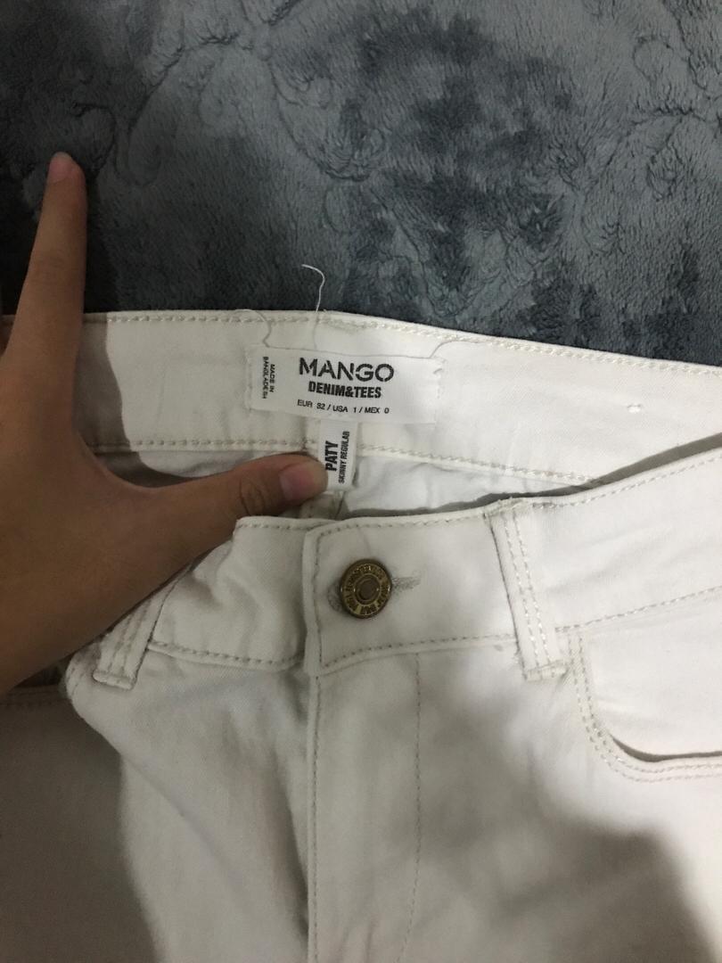 Mango White Jeans
