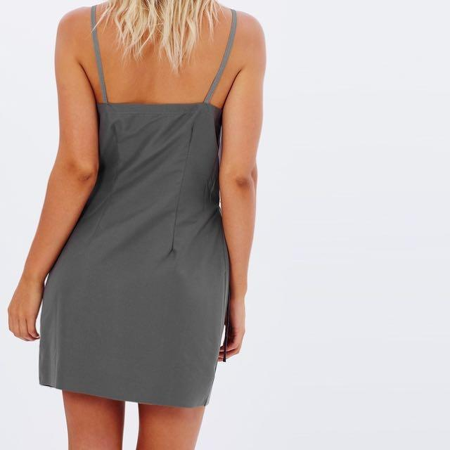 Maurie And Eve Leyenda Mini Dress Charcoal