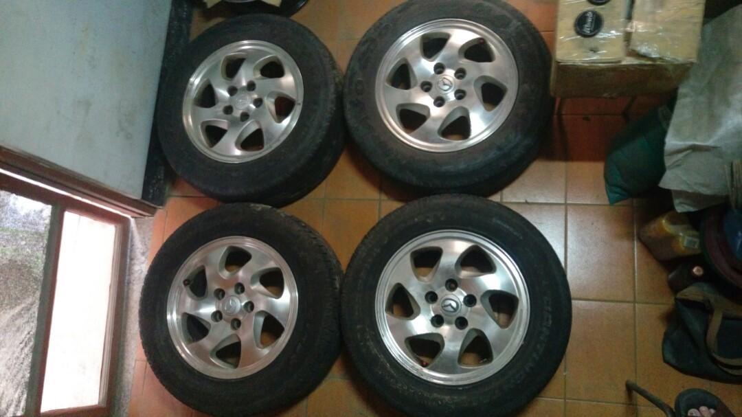 MAZDA馬自達休旅車原廠16吋鋁圈+堪用輪胎215/65一車份