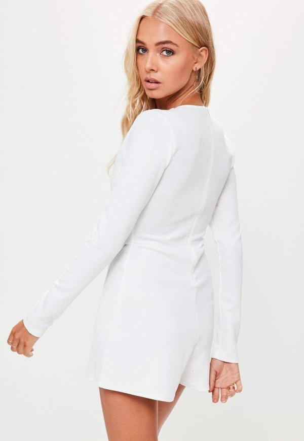 Missguided White Skort Playsuit / Jumpsuit