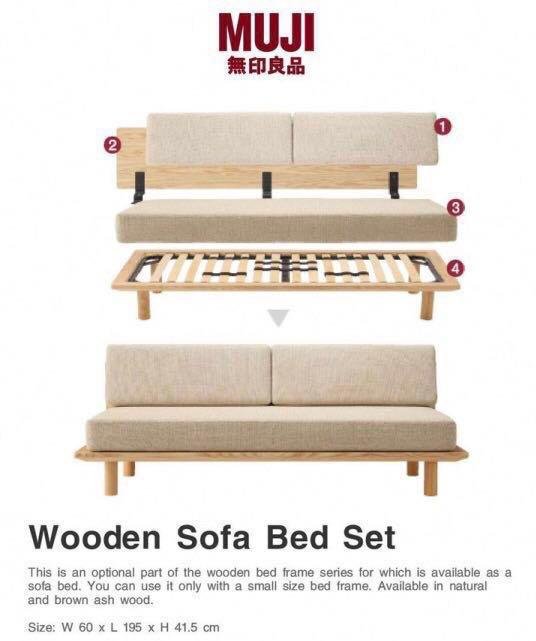 Enjoyable Unused Muji Sofa Bed Frame With Headboard Only Furniture Bralicious Painted Fabric Chair Ideas Braliciousco