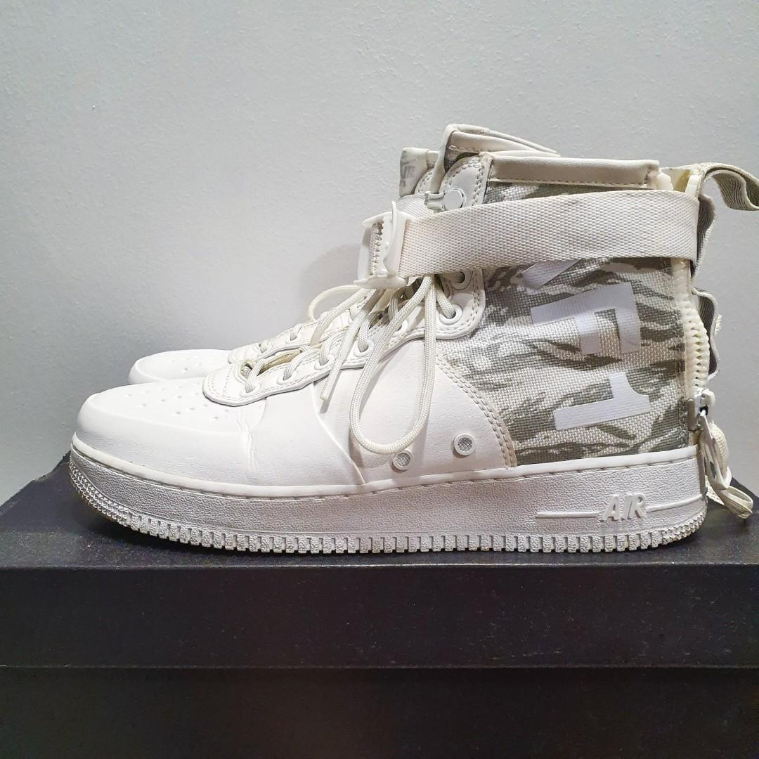 Nike SF Air Force 1 Mid Winter Camo, Men's Fashion, Footwear