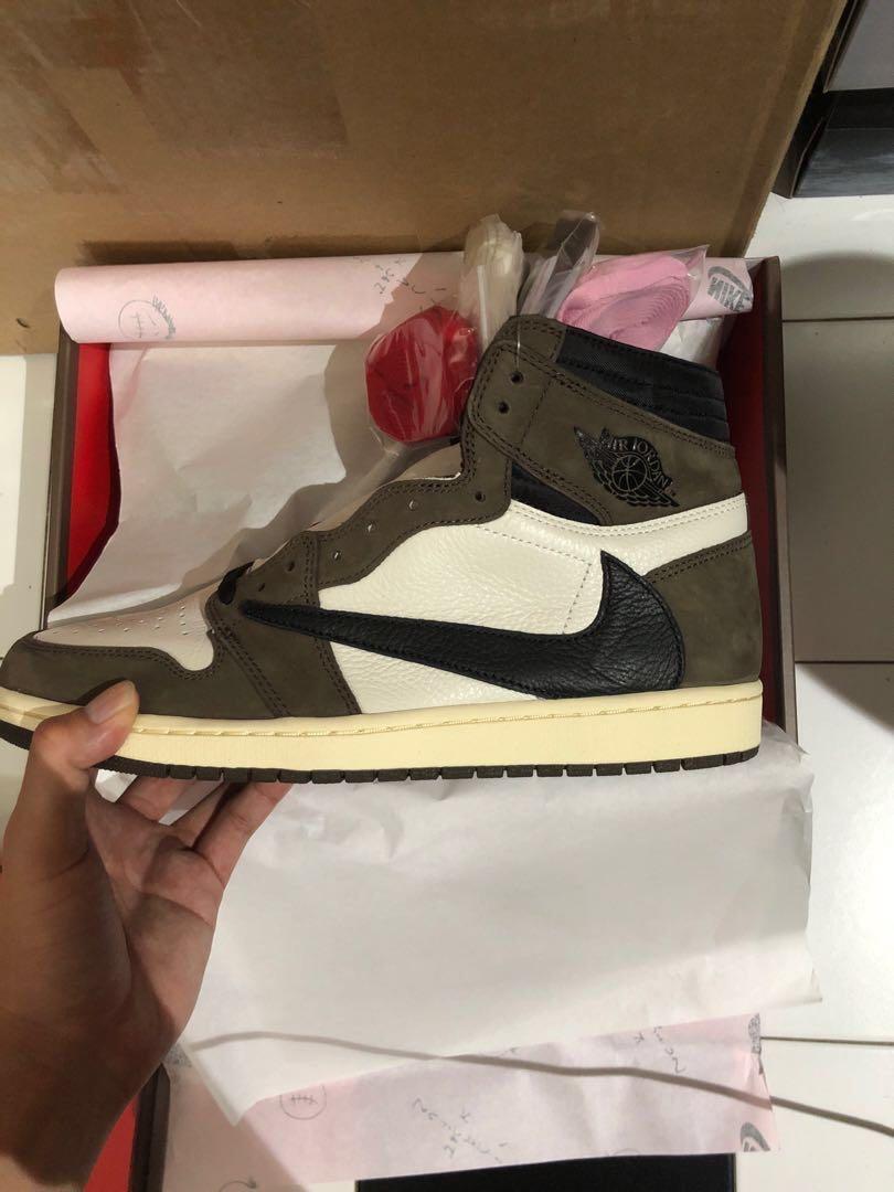 produkty wysokiej jakości najlepsza strona internetowa Pierwsze spojrzenie Nike x Air Jordan 1 Travis Scott US 11.5, Men's Fashion ...