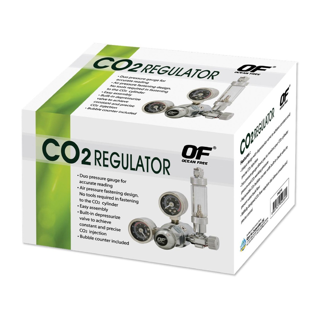 OF Ocean Free Dual Stage CO2 Regulator with Bubble Counter for planted tanks