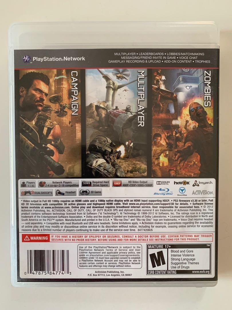 PS3 Game - Call of Duty Black Ops 2
