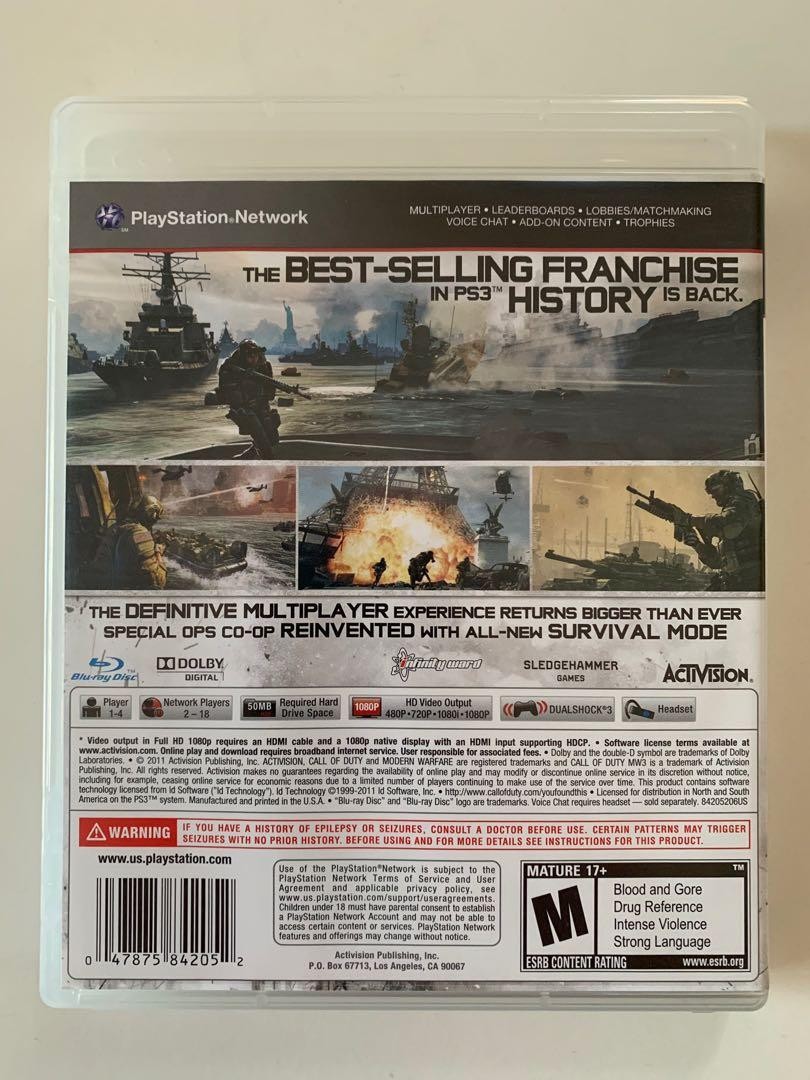 PS3 Game - Call of Duty Modern Warfare 3