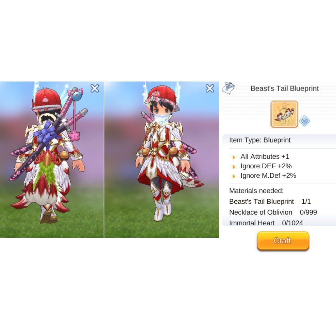 Ragnarok M SEA LIMITED ANGEL FLOATING COSTUME WITH EFFECTS