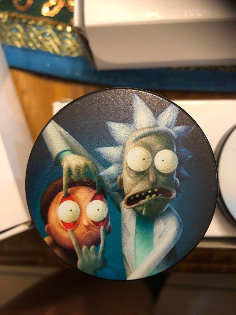 Rick and morty 55mm zinc alloy tobacco and weed grinder