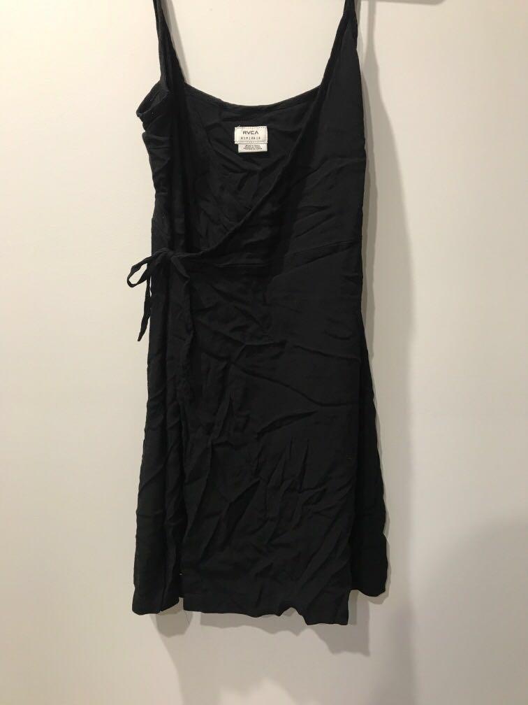 RVCA Little black wrap dress