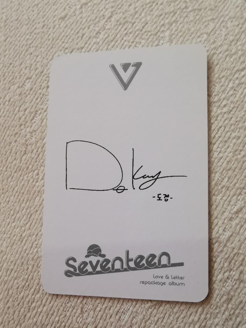 Seventeen Dk Do Kyeom Love and Letter Repackage Official Photocard