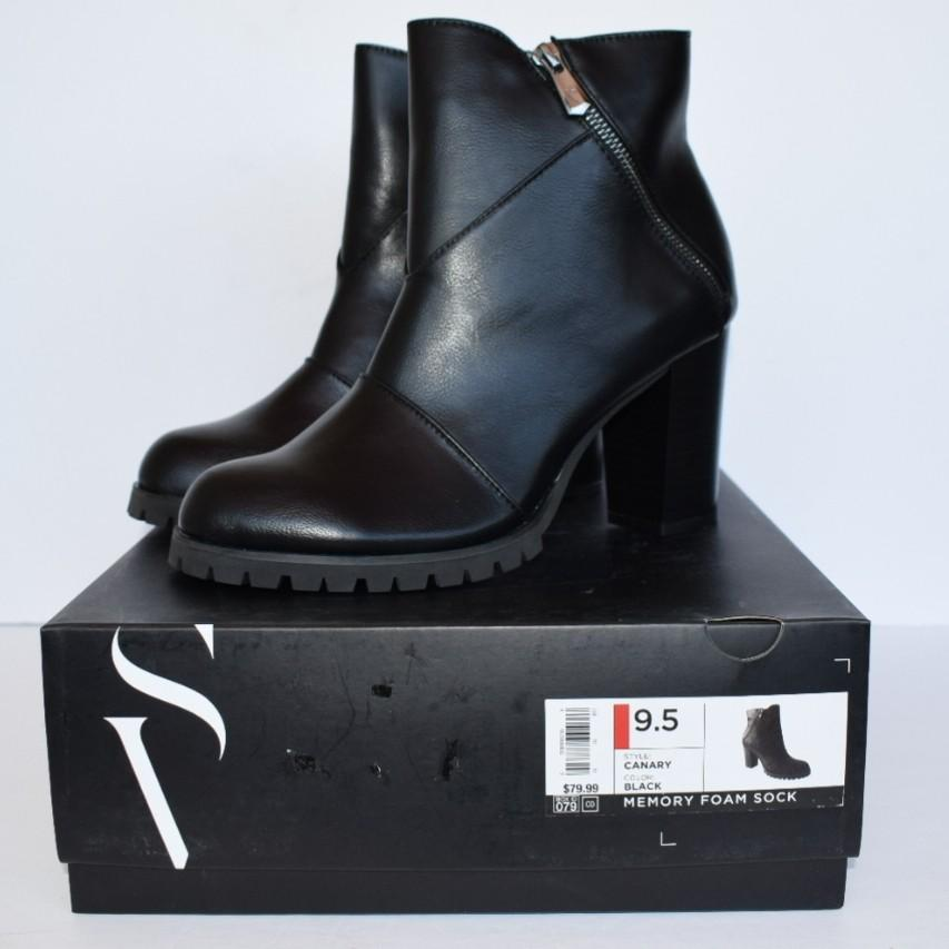 Simply Vera Vera Wang Canary High Heel Ankle Boots Size 9.5