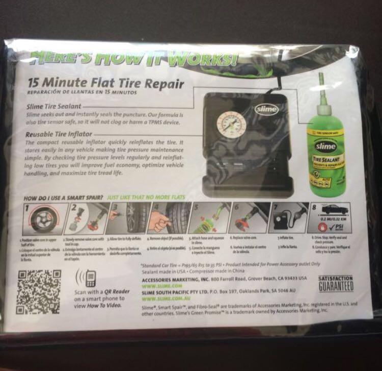 Slime Smart Spair (tire repair)