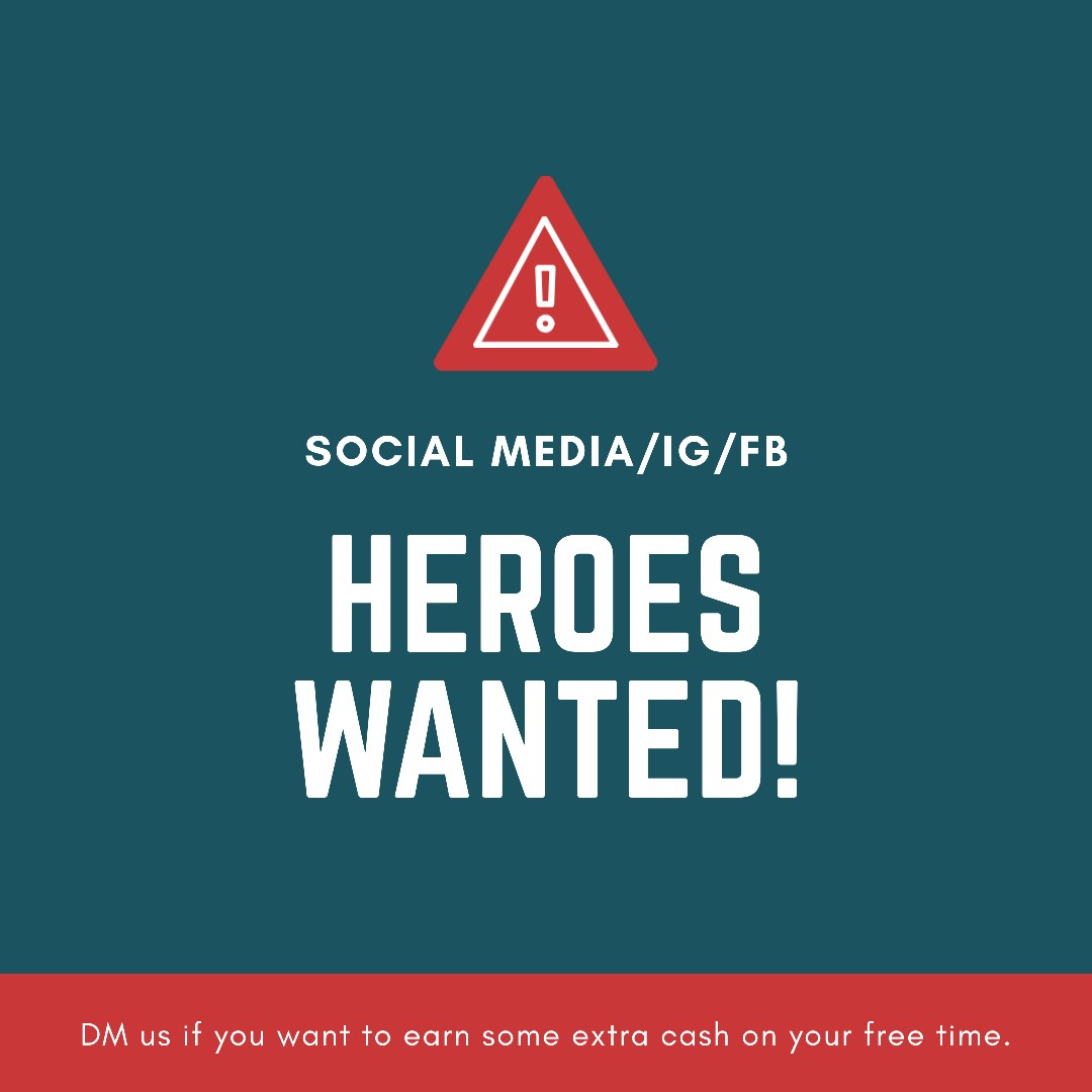 Social Media | FB | IG Heroes wanted.