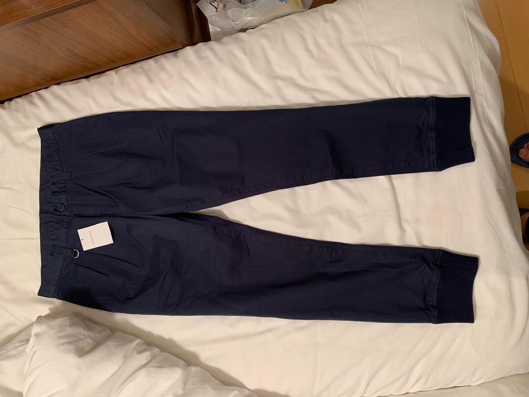 Sophnet stretch cotton 2 tucks pants navy sz L